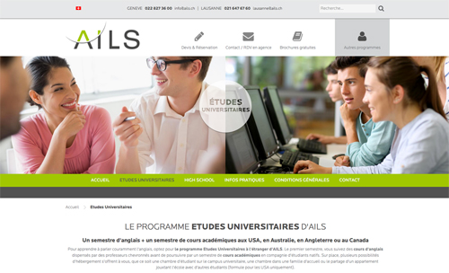 Ails, programme université long terme