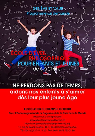 Association Duchamps-Libertino - Ecole d'éveil philosophique