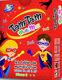 Cartes: Jeu de maths Tam Tam MultiMax N2 - 7 ans